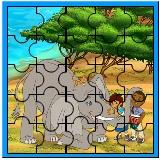 Puzzle Safari cu Dora